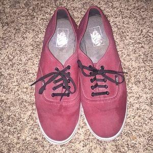 Deep red men's Vans size 9.5